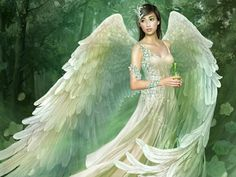 If you believe in guardian angels, you know we sometimes have to stop and figure out what it is they're trying to tell us. Chances are, your angel might be trying to tell you something right now. Fantasy Girl, Chica Fantasy, Fantasy Fairies, Fantasy Women, Your Guardian Angel, Angel Images, Angel Pictures, Fairy Wallpaper, Fairy Art