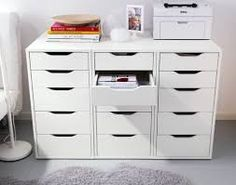 IKEA Fan favorite: ALEX narrow drawer units to make a printer table. IKEA Fan favorite: ALEX narrow drawer units to make a printer table. This little drawer unit is great for organizing any room of your home! Ikea Fans, Home Office Organization, Alex Drawer Organization, Makeup Organization, Organizing Office Supplies, Craft Room Organizing, Organize Craft Closet, Organized Craft Rooms, Ikea Office Storage