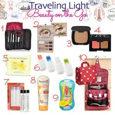 In Pursuit of Lovely: Traveling Light Part One: Beauty on the Go