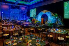 Photo of ISES Austin June Gala - Dining Room. Guests started in foyer with cocktails, then moved here for dinner, than moved into neighboring room for dessert and dancing. Event Decor, Foyer, Photo Credit, Special Events, Illusions, Dancing, Tables, Cocktails, June