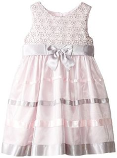 Bonnie Jean Little Girls Lace To Ribbon Organza Dress Pink 2T *** Read more reviews of the product by visiting the link on the image.