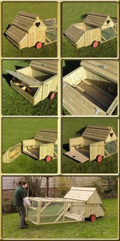 I love this chicken tractor-functional and beautiful!