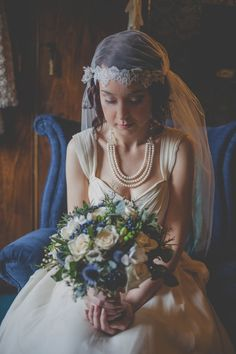 A Charlotte Casadéjus Gown and Juliet Cap Veil For A 1930s Inspired Winter Wedding | Love My Dress® UK Wedding Blog