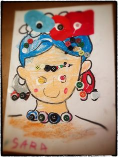 """Frida Kahlo, con botones, lentejuelas y ceras Menudos """"savios"""" por el mundo"""