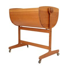 View this item and discover similar for sale at - A rocking bassinet designed by Nanna Ditzel executed in oregon pine. An exceptional design icon. Cradles And Bassinets, Marx, Kids Inspire, Baby Bassinet, Bed Furniture, Furniture Ideas, Mid Century Furniture, Danish Design, Icon Design