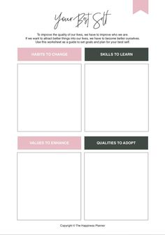 This is a PDF download. Once you've made the purchase, you'll receive another email with the download link to download your printable(s)! These printables are part of our Self-Awareness Box. Use these printables to help you become more self-aware and understand yourself better, so that you can set goals that will make