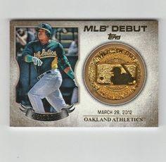 2016 Topps Series 1 Mlb Debut Medallion Yoenis Cespedes MDM-YC Oakland Athletics #Athletics #OaklandAthletics