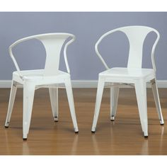 White Tabouret Stacking Chairs (Set of 4) - Overstock™ Shopping - Great Deals on Dining Chairs