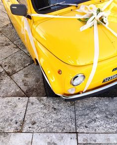 Married in Yellow  500  #igersreggiocalabria #reggiocalabria #igerscalabria #calabria #igersitalia #igersinitaly #yellow #yellowcar #fiat500  #500 #500likes #fiat #vintage #vintagecar #carporn #carstagram #carswithoutlimits #classiccar #oldcar #igcar #carsofinstagram #oldschool #cargram #retrocar #automotive #supercar #ohsoretro #jj #l4l