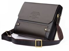 New Men's POLO Leather Bag Shoulder Briefcase Business Style