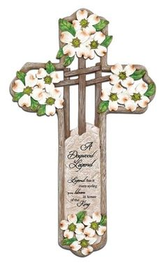 Wood Crosses, Spring Blooms, Resin, Christian, Amazon, Wall, Gifts, Wooden Crosses, Amazons