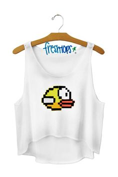 $27.00 Flappy Bird Crop Top - Fresh-tops.com