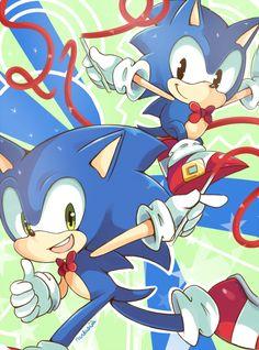 Classic and Modern Sonic ^U^ Aww Sonic 3, Sonic And Amy, Sonic Fan Art, Sonic The Hedgehog, Shadow The Hedgehog, Sonic Generations, Sonic Unleashed, Classic Sonic, Pokemon