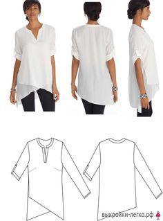 Выкройки блузок на разные типы фигур   Готовые выкройки и уроки по построению на Выкройки-Легко.рф