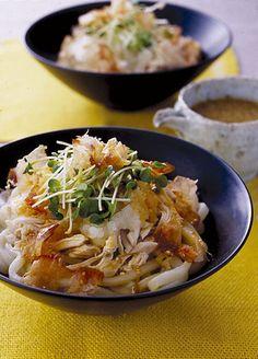Bukkake Udon with Sesame Sauce ごまだれぶっかけうどん