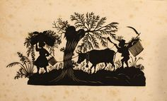 Paper Silhouettes from the 1860s | E. Lingle Craig Preservation Lab Blog