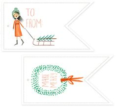Holiday Roundup: Awesome Free Gift Tag Printables - Creature Comforts ( if there was time we could do some tags too) Christmas Tags Printable, Free Printable Gift Tags, Holiday Gift Tags, Free Printables, Printable Labels, Christmas Love, All Things Christmas, Christmas Holidays, Christmas Crafts