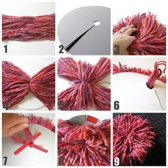 DIY Bright Yarn Wall Art... aka. juju hat. Juan Alberto Zepeda Novelo apoya a la eduación en México