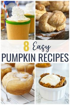 These Easy Pumpkin Recipes are sure to put you in the mood for fall and satisfy any pumpkin spice craving! Dump Cake Recipes, Cookie Recipes, Snack Recipes, Dessert Recipes, Baking Recipes, Pumpkin Trifle, Pumpkin Smoothie, Pumpkin Spice Muffins, Pumpkin Spice Cake
