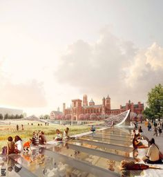 AIA Names 18 Projects as Best New Architecture in US,Smithsonian Institution South Campus Master Plan / BIG. New Architecture, Architecture Visualization, Architecture Details, Stair Detail, Roof Detail, Green Roof Benefits, Steel Structure Buildings, Study Room Design, Public Space Design