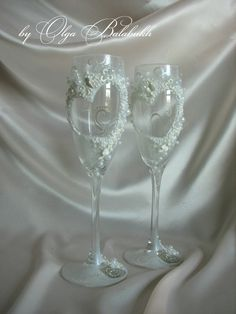 Romantic Wedding champagne glasses