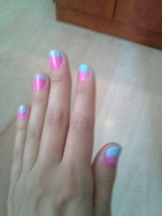 Ombre nails in progress