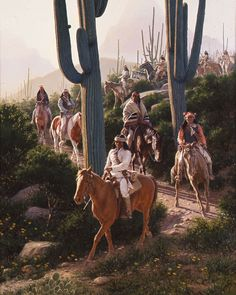 Foggy Morning by David Nordahl Native American Paintings, Native American Pictures, Indian Pictures, Native American Artists, Native American History, Indian Paintings, Native American Indians, Abstract Paintings, Art Paintings