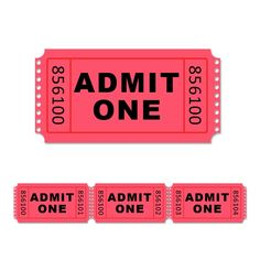 Admission ticket PSD template and web icon. Admit one generic ...