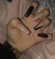top awesome coffin nails design 2019 you must try 4 ~ thereds.me top awesome coffin nails design 2019 you must try 4 ~ thereds. Aycrlic Nails, Stiletto Nails, Hair And Nails, Pink Tip Nails, Black Nails, Nail Swag, Gorgeous Nails, Pretty Nails, Best Acrylic Nails