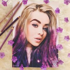 Here's a new portrait for magical @sabrinacarpenter  Can't wait to hear your new song. Guys, I spent 26 hours to draw it so I hope my efforts will not go for nothing. [ Sabrina liked and commented. ]