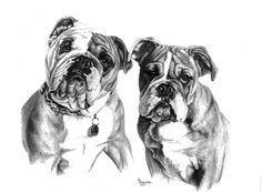 Roxie & Jiggs Sketch  www.gensart.net