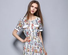 Elegant Organza Printing Short Sleeve A-Letter-Shape Skirt One-Piece Dress http://www.fashion-wholesaler.com/dresses-c-10200/elegant-organza-printing-short-sleeve-alettershape-skirt-onepiece-dress-p-2317.html