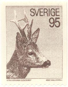 """Sweden 95ö """"Deer"""" 1972. Arne Wallhorn sc."""