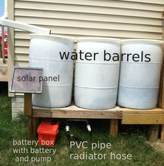 How to Make A Solar Powered Water Pump for Water Barrels - http://SurvivalistDaily.com/how-to-make-a-solar-powered-water-pump-for-water-barrels/