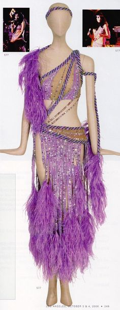 Cher/Bob Mackie designed ensemble worn for the 1980 Live in Monte Carlo concert. Estimated at $1,500-$2,000 sold for $5,700.