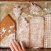 This snowy gingerbread city makes a stunning holiday centerpiece. We're sharing one of our favorite gingerbread house ideas including a free printable template. It's an easy Christmas decoration the kids can help make. You'll want to live in it. Gingerbread Village, Christmas Gingerbread House, Noel Christmas, Christmas Treats, Christmas Baking, Simple Christmas, White Christmas, Gingerbread Cookies, Christmas Cookies