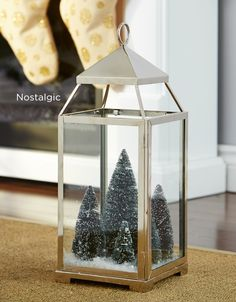 Style a DIY mini winter forest for a touch of nostalgia. MyCANVAS