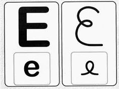 Pedagógiccos: Alfabeto - letra cursiva e caixa alta Alphabet, Clip Art, Lettering, Logos, Google, Disney, Ideas, Writing Assignments, Upper And Lowercase Letters