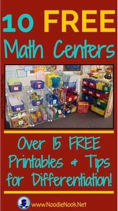 Printable Math Centers These FREE Math Centers are perfect for Special Education, and Work Centers for students with Autism!These FREE Math Centers are perfect for Special Education, and Work Centers for students with Autism! Preschool Math, Math Classroom, Teaching Math, In Kindergarten, Math Math, Preschool Schedule, Math Fractions, Maths Eyfs, Classroom Setup