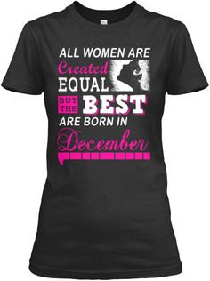 Best Women Are Born In December T-Shirt