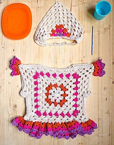 Crochet PATTERN granny square Sweater. Baby clothing with