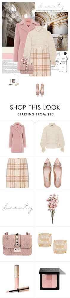 """""""Mondays / Isabel Marant Sondra pintucked silk-georgette and lace turtleneck blouse"""" by palmtreesandpompoms ❤ liked on Polyvore featuring Chanel, MaxMara, Isabel Marant, MARC CAIN, Miu Miu, WALL, Valentino, Kate Spade, By Terry and Bobbi Brown Cosmetics"""