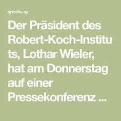 Der Präsident des Robert-Koch-Instituts, Lothar Wieler, hat am Donnerstag auf einer Pressekonferenz über die aktuellen Entwicklungen der Corona-Pandemie in Deutschland informiert. Focus Online, Corona, Thursday, Cook