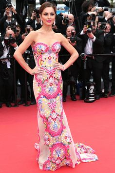 13 May Cheryl Fernandez-Versini opted for an strapless Naeem Kahn gown for the premiere.   - HarpersBAZAAR.co.uk