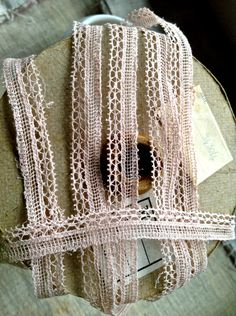 Vintage Lace Trim. Antique Pink Lace, Pale Pink Lace / 5 ys Dolls Bears Ballet. Home Furnishings, Sewing Supplies. Home Decor by BrocanteArt on Etsy
