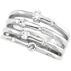 14K White Gold 1/2 CT TW Right Hand Diamond Ring  http://electmejewellery.com/jewelry/rings/14k-white-gold-12-ct-tw-right-hand-diamond-ring-com/