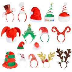 Adults Unisex Festive Christmas Santa Elf Reindeer Xmas Hat  Headband  Accessory 3315438d70c