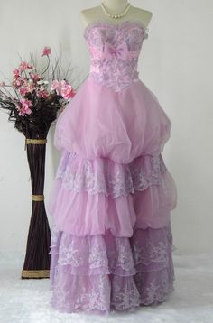 Light Violet  Vintage Gown Wedding by BestVintageFashion on Etsy, ฿3200.00