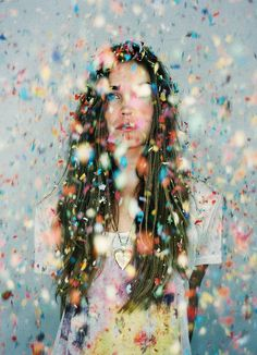raining confetti - for my sisters when I see them next...girls... photo shoot…