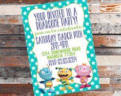 Henry HuggleMonster Birthday Invitation. Henry HuggleMonster. Henry Huggle Monster Birthdday.